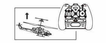 Движение радиоуправляемого вертолета вперед