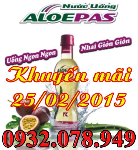 Nha Đam Chanh Dây AloePas khuyến mãi ngày Vàng 25/02/2015