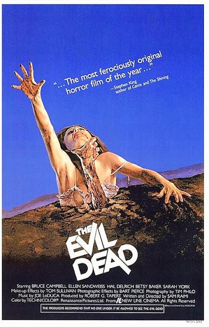 Posesión infernal, Evil dead, sam raimi, Campbell, que peliculas ver en Halloween