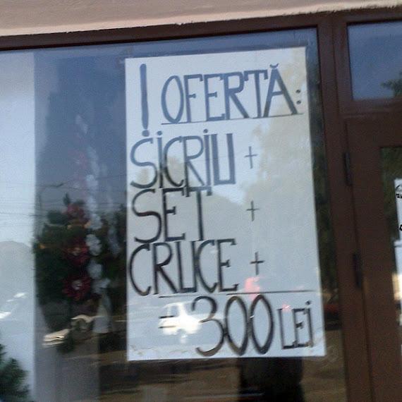 Ofertă: Sicriu + Set + Cruce = 300 lei