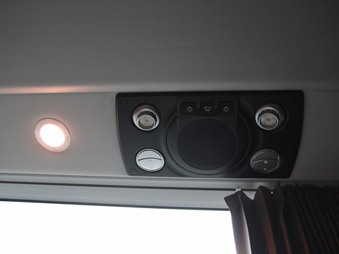 中国バス「ドリームスリーパー」 G1202エアコン吹き出し口・桜色LED