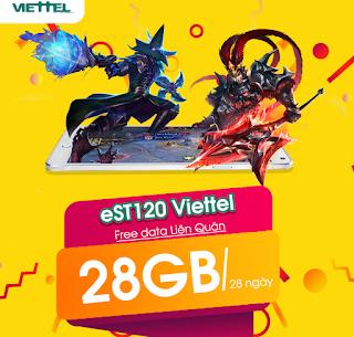 Chơi Game Liên Quân MIỄN PHÍ, 28GB Data Gói EST120 Viettel
