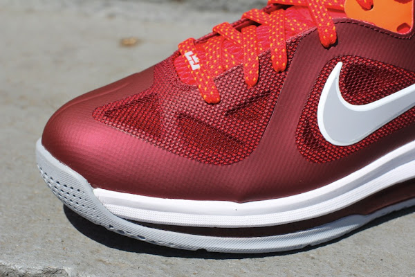 Nike LeBron 9 Low 8220Team RedChallenge RedWolf Grey8221