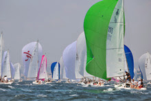 J/80s sailing downwind at Copa del Rey- Palma Mallorca, Spain