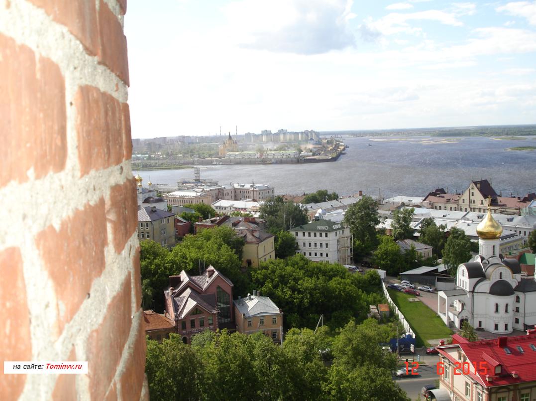 Стрелка из стен Кремля Нижний Новгород