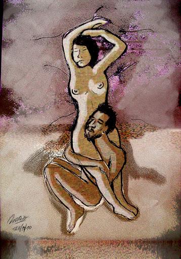 Pintura de Mario Monje.- Siesta después de hacer el amor