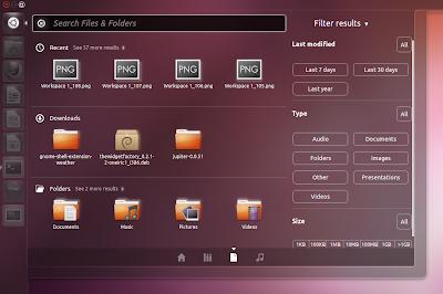 Ubuntu 11.10 Oneiric Ocelot files lens