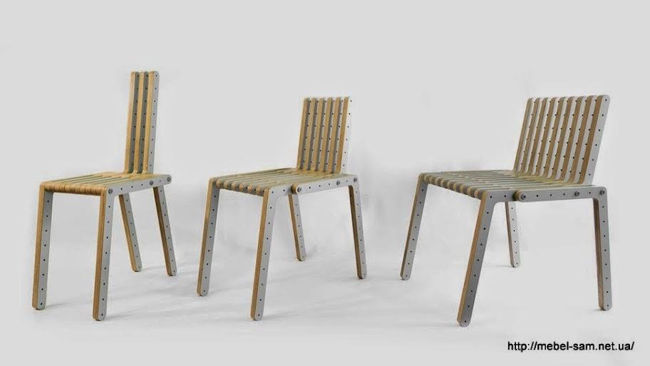 Сборные стулья из фанерных деталей - вид спереди