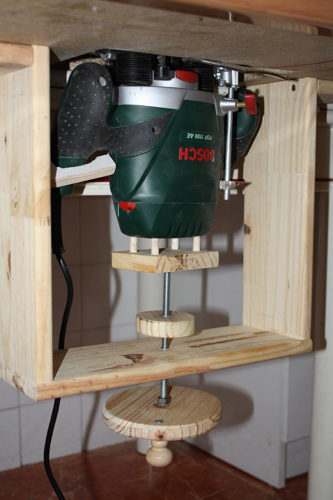 Brico carpinteria mesa para fresadora - Fresadora de madera ...