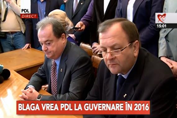 Gheorghe Flutur îl susţine pe Vasile Blaga pentru funcţia de preşedinte PDL
