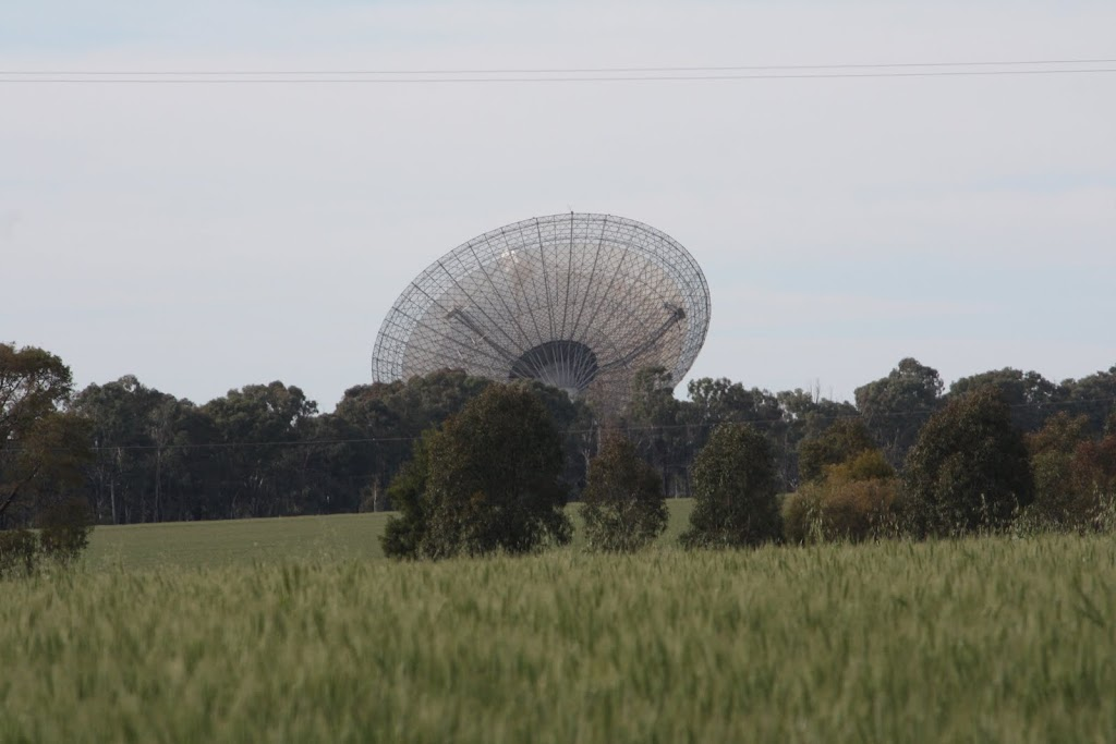 Huge radio dish in the middle of nowhere