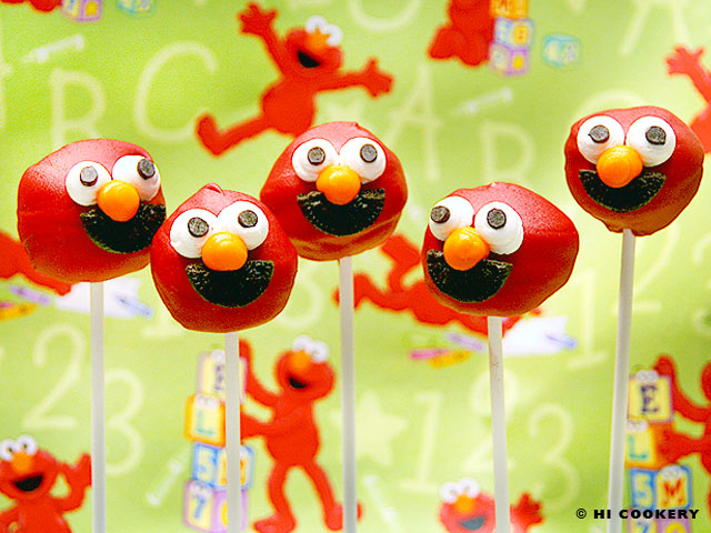 Elmo Cheesecake Pops