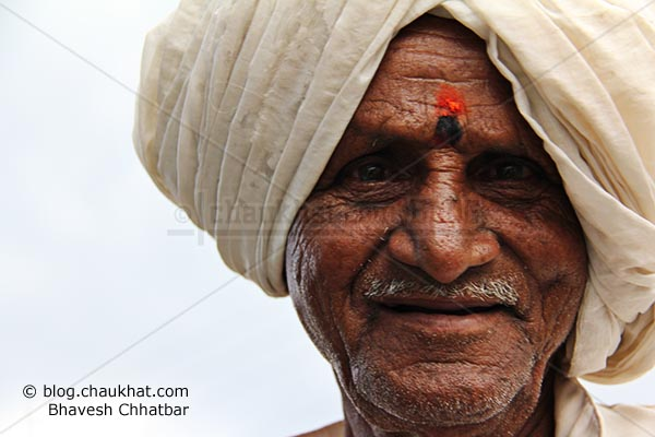 Old man from a village near Pune