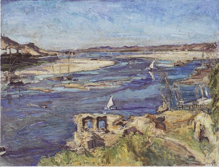 Max Slevogt - Der Nil bei Assuan, 1914