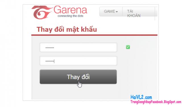 hoàn tất lấy lại mật khẩu garena game fifa online 3
