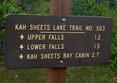 Good trail system to stream and beach.
