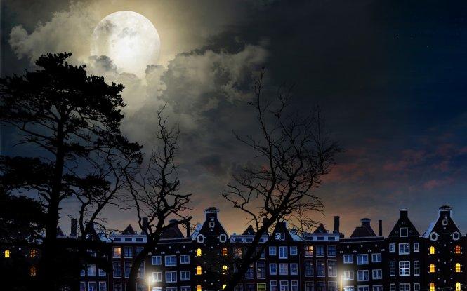 ảnh trăng mùa đông