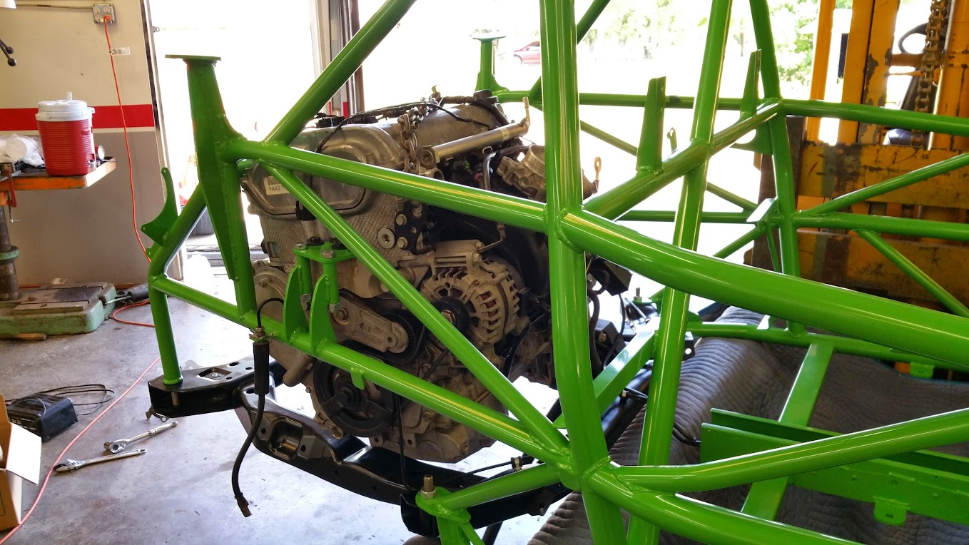 DF Goblin Prototype 2 engine mated to subframe