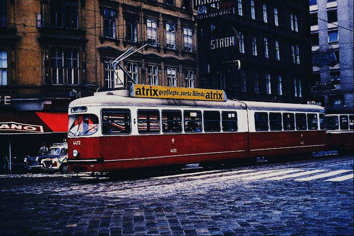 european tram circa 1960s