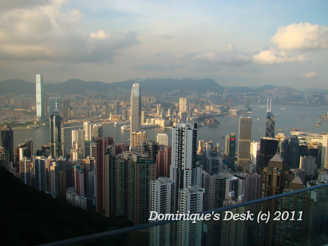 A photo taken from the Peak in Hong Kong
