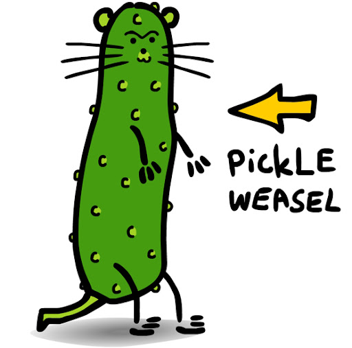 oh my pickle JCLittle_PICKLEWeasel