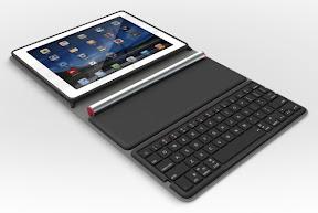 Logitech Solar Keyboard Folio 開いたところ
