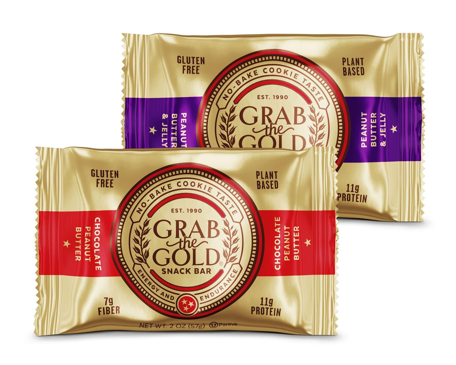 Grab The Gold Snack Bars taste like yummy no-bake cookies-11g protein