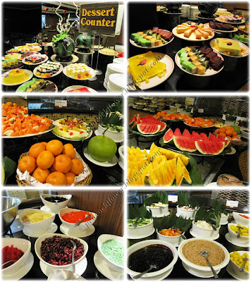 Buffet lunch desserts and fruits at Benteng Coffee House, Quality Hotel