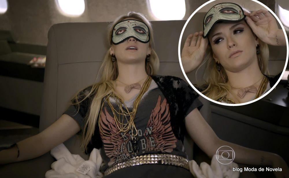 moda da novela Gerção Brasil - look da Megan dia 9 de maio