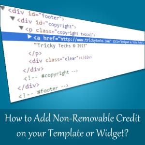 Bagaimana Cara Menambahkan Kredit Yang Tidak Bisa Dihapus pada Template atau Widget?