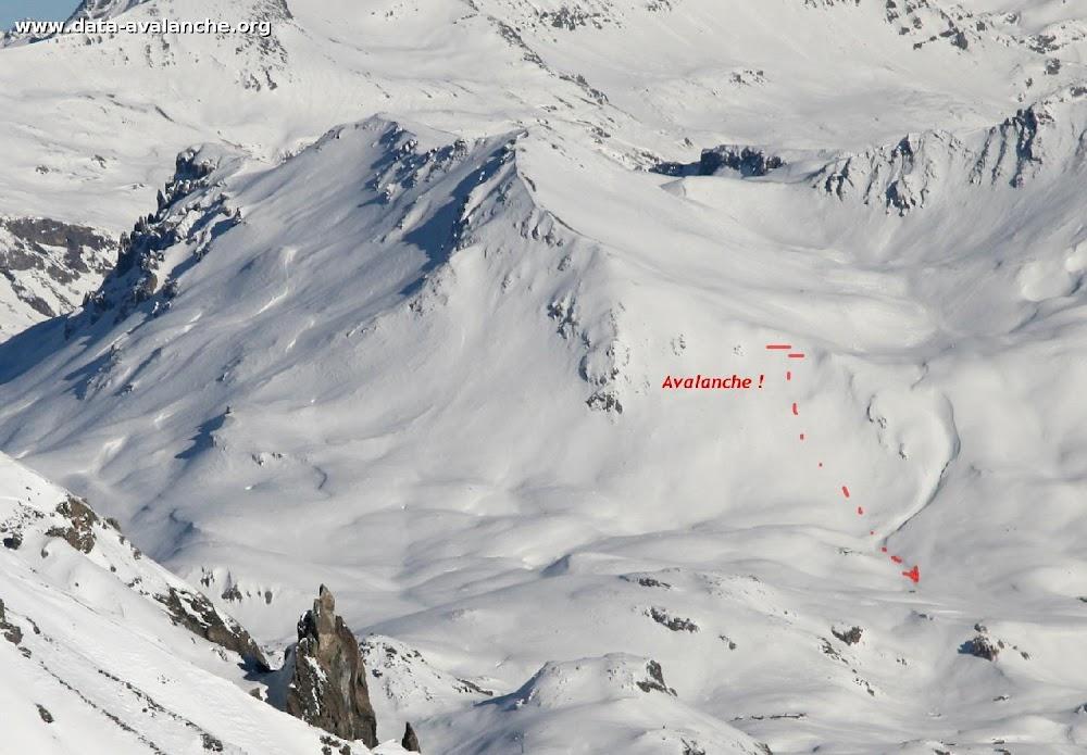 Avalanche Vanoise, secteur Grand Roc Noir, Col de Lanserlia - Photo 1