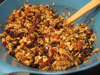 mixed homemade gluten-free vegan granola