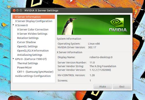 nVidia 302.17 su Ubuntu 12.04