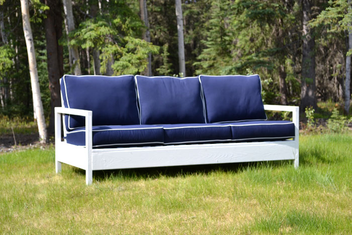 white simple white outdoor sofa diy projects