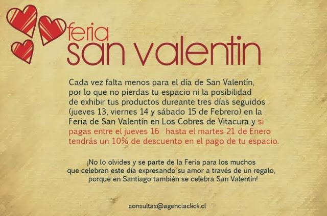Feria San Valentín, una oportunidad para promocionar tus productos y servicios