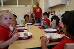 LePort Montessori Preschool Toddler Program Huntington Pier - eating time!