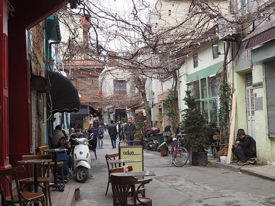 karakoy neighborhood, street/daily life