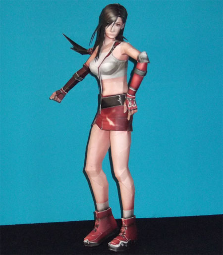 Dissidia 012 Final Fantasy Tifa Papercraft Enforcer Outfit