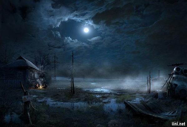 ảnh ánh trăng trong đêm buồn