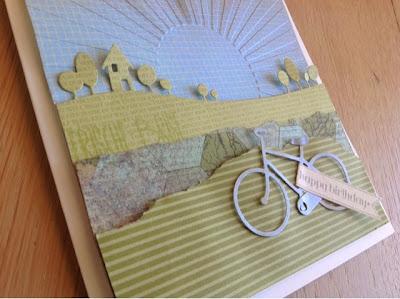 Stampin up Fahrrad