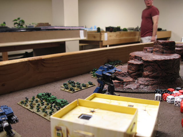 The Warlord hold's downthe right flank.