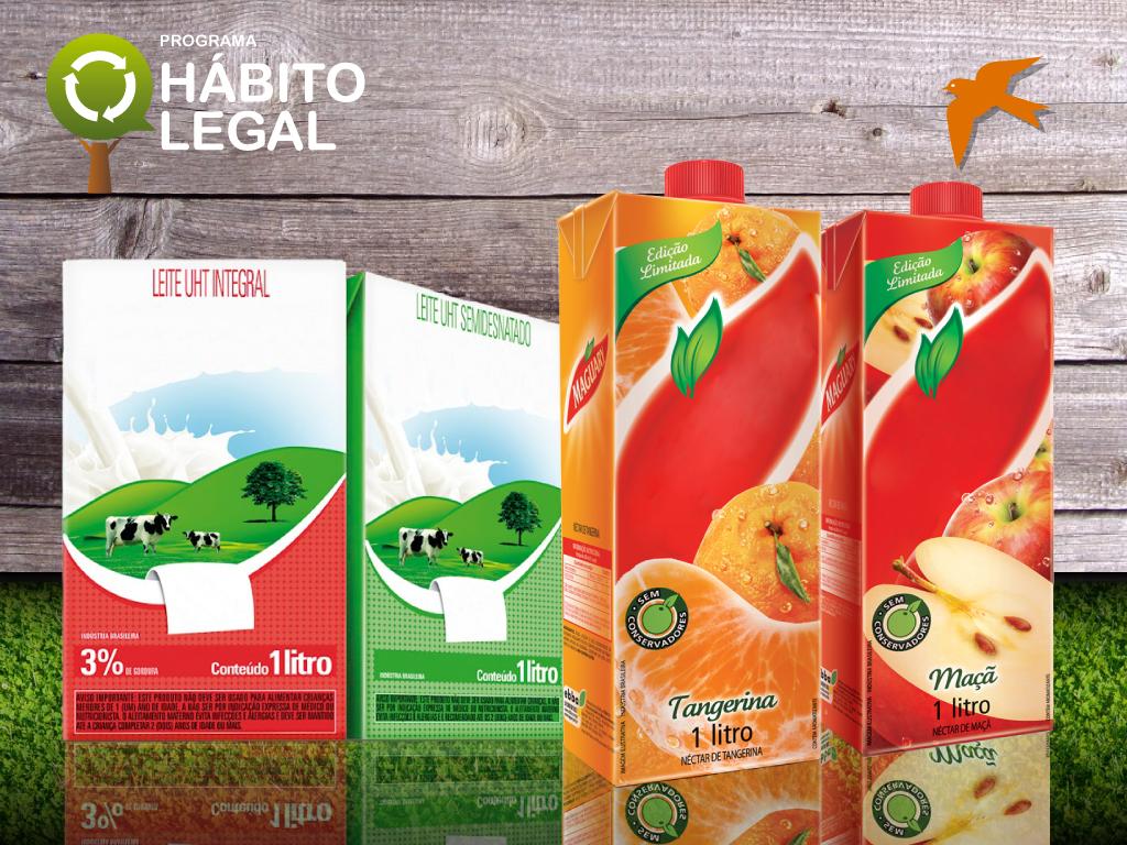 Hábito Legal prepara ação de recolhimento de caixinhas de leite ou suco em parceria com o IFC CAIXINHAS 01