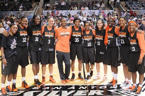 Wearing Brons Diana Taurasi and Swin Cash in Their WNBA AllStar Nike LeBron 8 V2 PEs