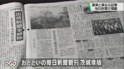 毎日新聞、現存しない切り株の桜「見頃」の記事