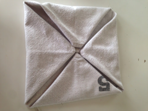 Napkin folding tutorial, the Style Sisters