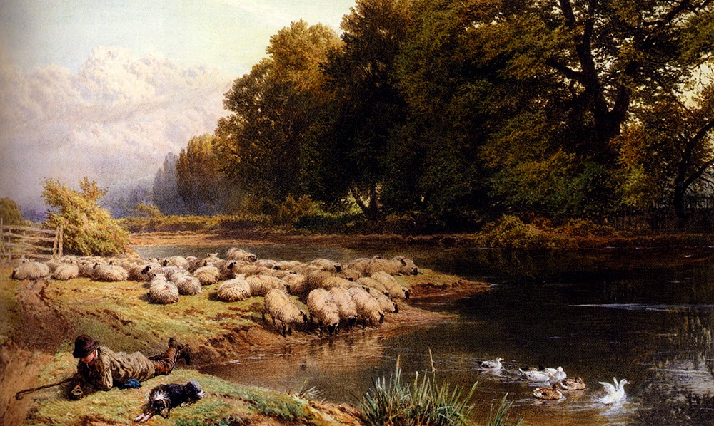 Myles Birket Foster - The Shepherds Rest