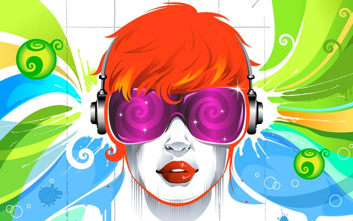 50 Colorful Vector Art Music Wallpapers