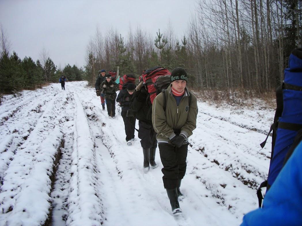 Группа в пешем походе по Кировской области
