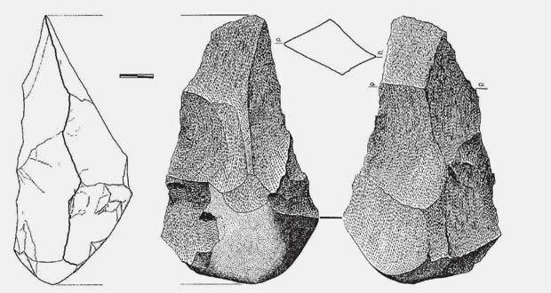 Uno de los bifaces encontrados en Áridos