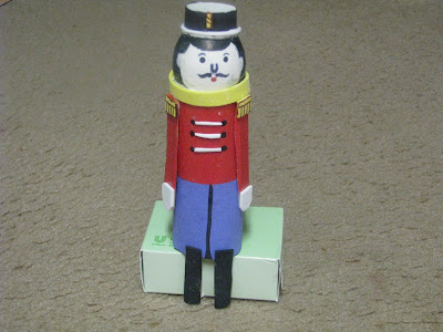 Egg shell and Toilet paper roll Tin Soldier man